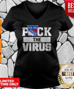 New York Rangers Puck The Virus V-neck