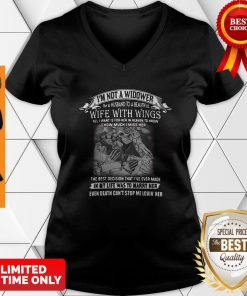 I'm Not A Widower I'm A Husband To A Beautiful Wife With Wings V-neck