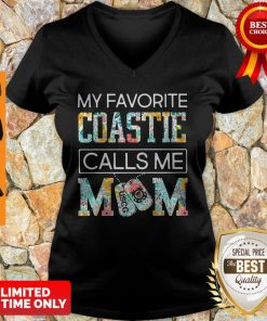 My Favorite Coastie Calls Me Mom V-neck