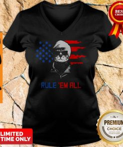 Nice Cat Donald Trump Rule Em All V-neck
