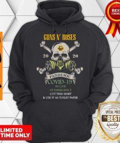 Skull Guns N' Roses 2020 Pandemic Covid-19 In Case Of Emergency Hoodie