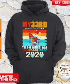 My 33rd birthday the one where i was quarantined 2020 mask vintage hoodie