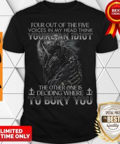 Official Skull Unicorn Diamond Four Out Of The Five Voices In My Head Think You're An Idiot shirt