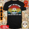 Official Vintage Nurse Baby Yoda Dont Go Outside There Are People Out There Shirt