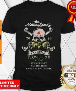 The Rolling Stones 2020 Pandemic Covid-19 In Case Of Emergency Shirt