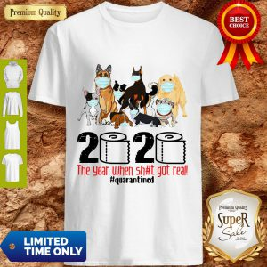 Dogs Mask 2020 The Year When Shit Got Real Quarantined Coronavirus ShirtDogs Mask 2020 The Year When Shit Got Real Quarantined Coronavirus Shirt