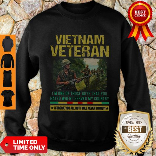 Hot Vietnam Veteran I'm One Of Those Guys That You Hated When I Server My Country Shirt Sweatshirt