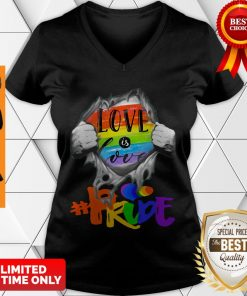 LGBT Love Is Love #Pride Blood Inside Me V-Neck