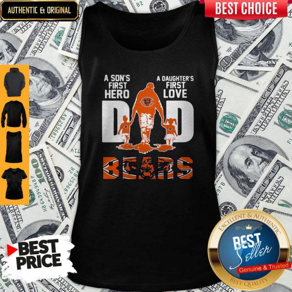 Nice Bears Dad A Son's First Hero A Daughter's First Love Tank Top