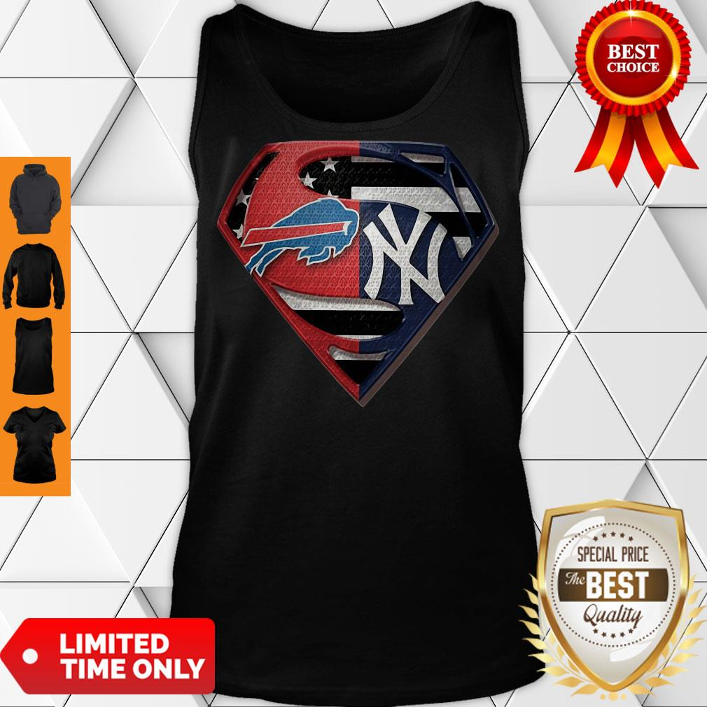 Superman Supes Head Adult Tank Top