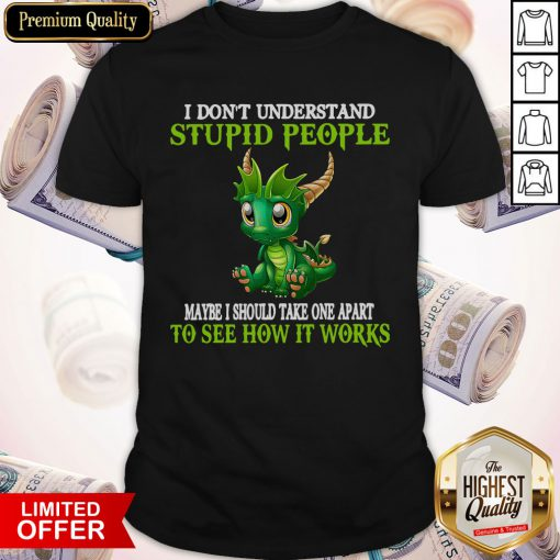 Nice Dragon I Don't Understand Stupid People Maybe I Should Take One Apart To See How It Works Shirt