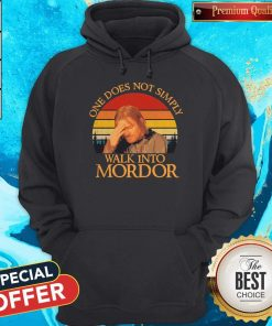 Nice One Does Not Simply Walk Into Mordor Vintage Hoodie