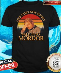 Nice One Does Not Simply Walk Into Mordor Vintage Shirt