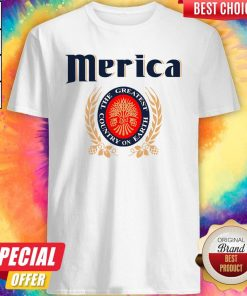 Official Merica Miller Lite The Greatest Country On Earth Shirt