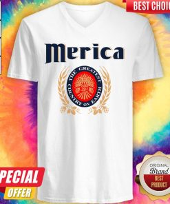Official Merica Miller Lite The Greatest Country On Earth V-neck
