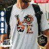 Official Pitbull Love Sunflower American Flag Shirt