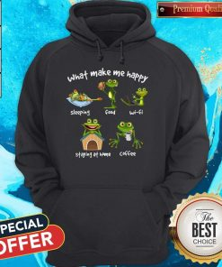 Frog What Make Me Happy Sleeping Food Wifi Staying At Home Coffee Sweatshirt