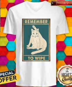 Nice Cat Remember To Wipe V-neck