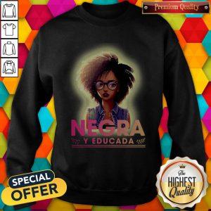 Nice Negra Y Educada Halloween Sweatshirt