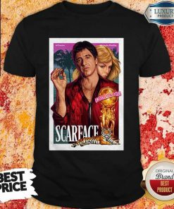 Nice Premium Al Pacino Michelle Pfeiffer World Is Yours Scarface Shirt
