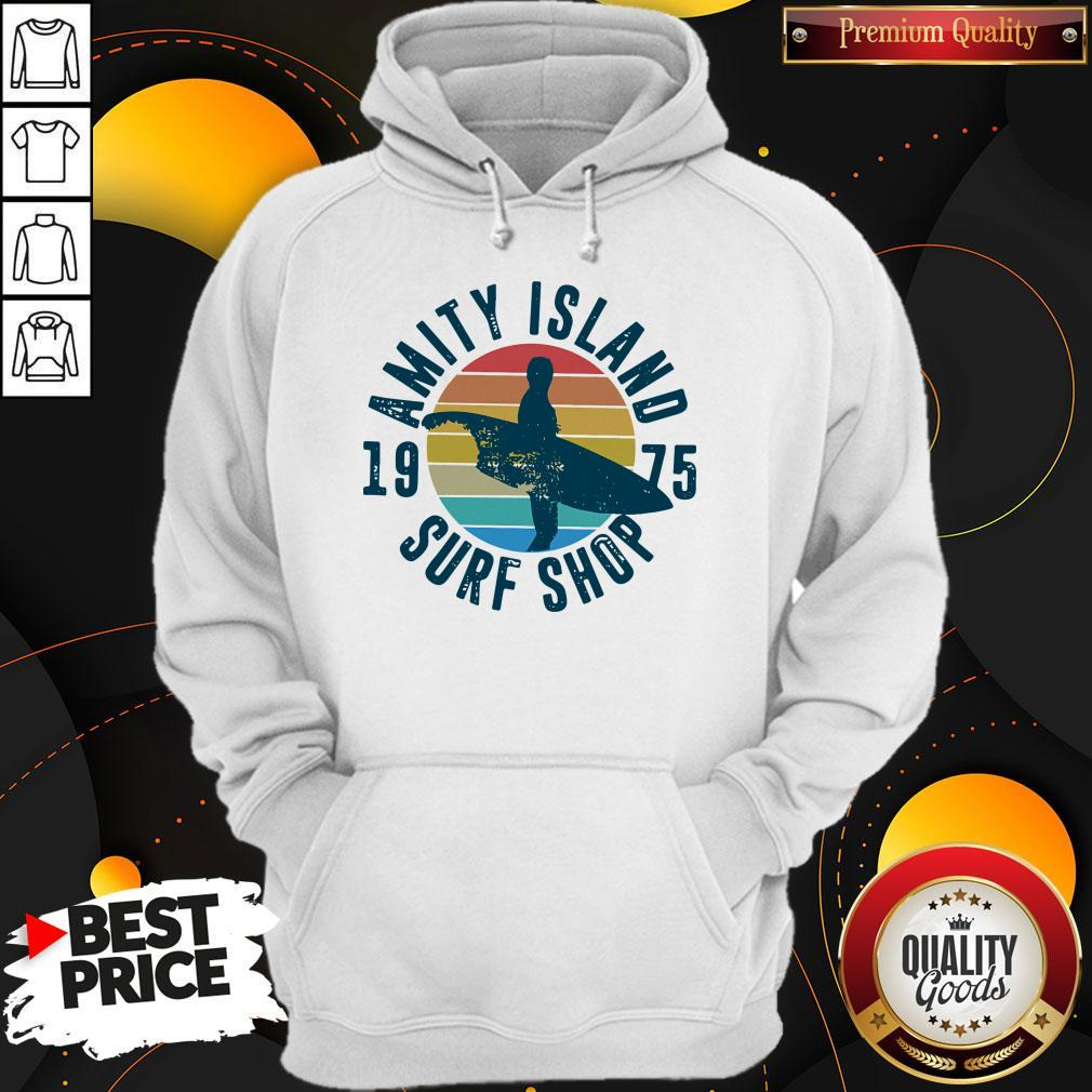 Official Amity Island Surf Shop 1975 Vintage Hoodie
