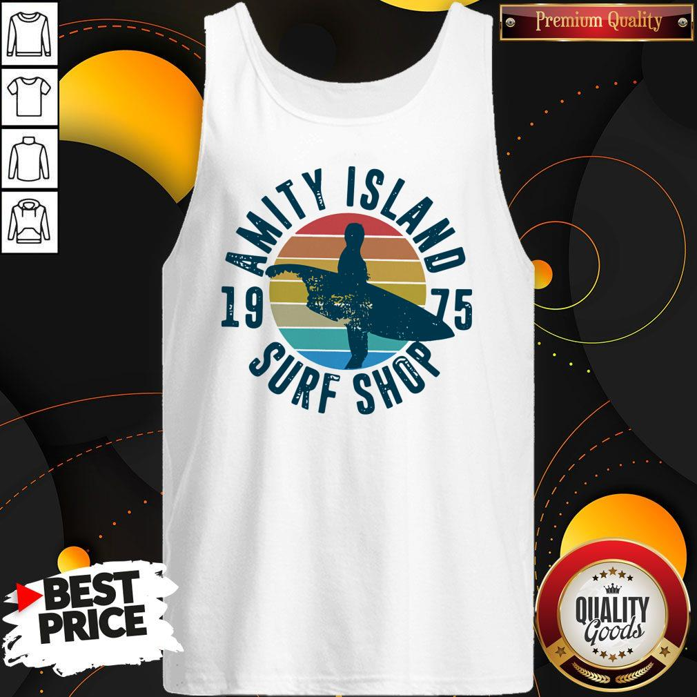 Official Amity Island Surf Shop 1975 Vintage Tank Top