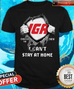 Official Blood Inside Me IGA Covid-19 2020 I Can't Stay At Home Shirt