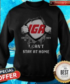 Official Blood Inside Me IGA Covid-19 2020 I Can't Stay At Home Sweatshirt