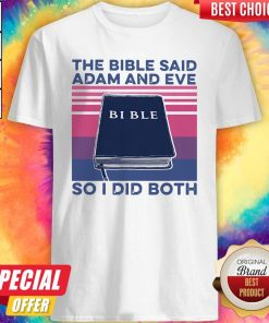 Official The Bible Save Adam And Eve So I Did Both Vintage Shirt