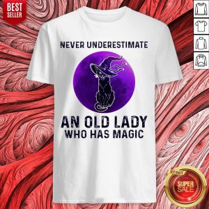 Black Cat Witch Never Underestimate An Old Lady Who Has Magic Halloween Shirt