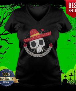 Dia De Los Muertos Day Dead Sugar Skull V-neck