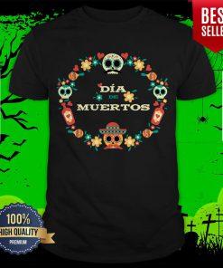 Dia De Muertos Day Of Dead Sugar Skull In Mexican Shirt