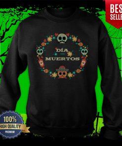 Dia De Muertos Day Of Dead Sugar Skull In Mexican Sweatshirt