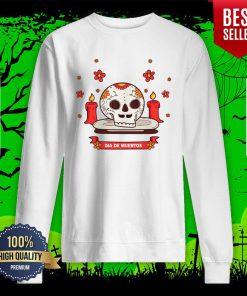 Dia De Muertos Sugar Skull Happy Mexican Holiday Sweatshirt