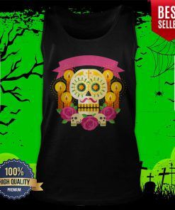 Happy Dia De Los Muertos Day Dead Sugar Skull Tank Top