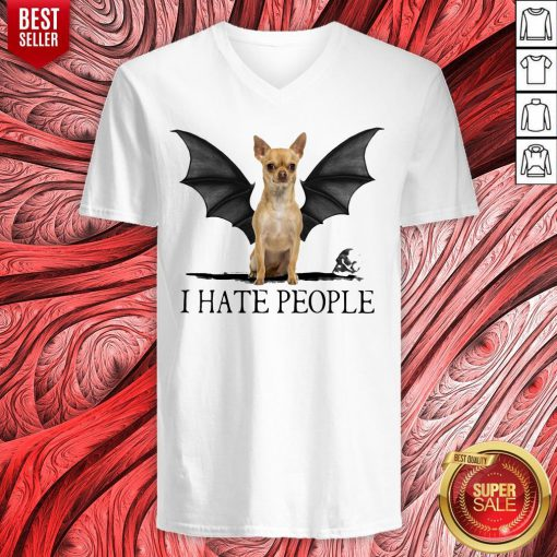 Official Chihuahua I Hate People V-neck