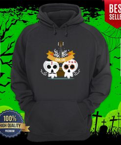 Sugar Skull Couple Guitar Day Of The Dead Hoodie