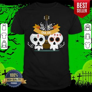 Sugar Skull Couple Guitar Day Of The Dead Shirt