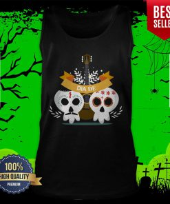 Sugar Skull Couple Guitar Day Of The Dead Tank Top