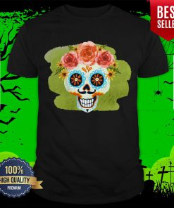 Sugar Skull Day Of The Dead In Mexican Shirt