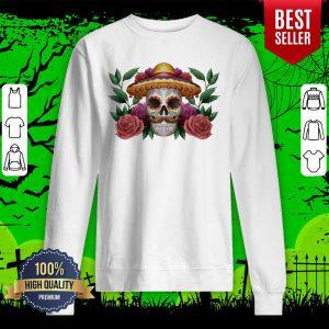 Sugar Skull Dia De Los Muertos Mexican Holiday Sweatshirt
