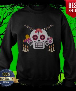 Sugar Skulls Day Of Dead Mexican Holiday Sweatshirt