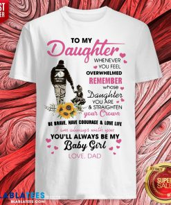 Fathers Day To My Daughter Whenever You Feel Overwhelmed Remember Whose Shirt - Design By Blablatees.com