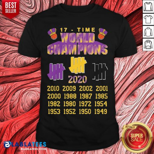 Good Undefeated Lakers 17 Time Champion Shirt - Design By Blablatees.com