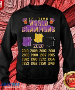 Good Undefeated Lakers 17 Time Champion Sweatshirt - Design By Blablatees.com