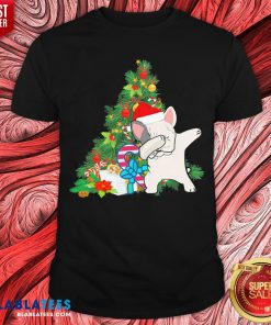 Funny Pug Dabbing Santa Christmas Tree Shirt - Design By Blablatees.com