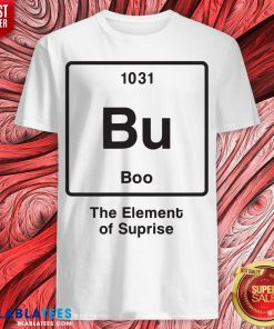 Funny Bu Boo The Element Of Surprise Shirt - Design By Blablatees.com