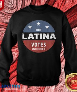 Official This Latina Votes Biden Harris 2020 Sweatshirt - Design By Blablatees.com