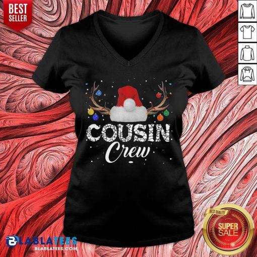 Cute Xmas Christmas Cousin Crew V-neck - Design By Blablatees.com