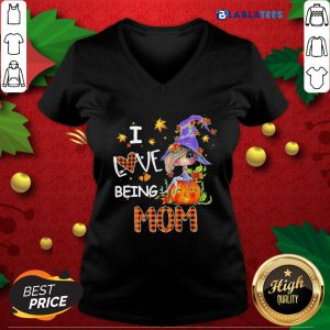 Awesome Witch I Love Being Mom Fall Shirt Design By Blablatee.com